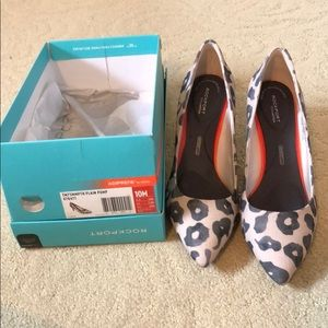 Rockport animal print neutral heel size 10